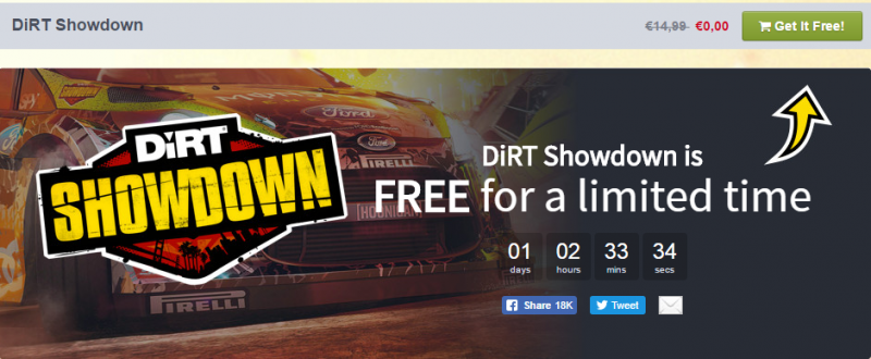 POKUPITE Dirt Showdown dzabe