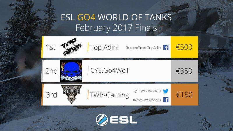 ESL Go4WoT Mesečno finale - Februar 2017.